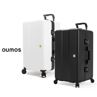 法國 OUMOS 旅行箱/行李箱 29吋 Container Double White/Black (10折)