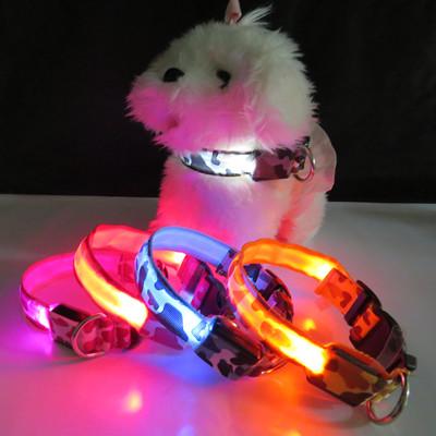 寵物迷彩LED發光項圈 (1.2折)