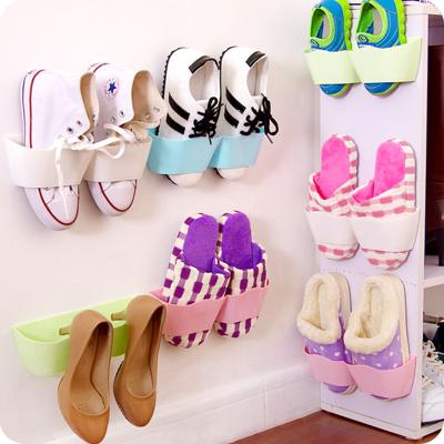 糖果色掛壁式收納鞋架 (3.8折)
