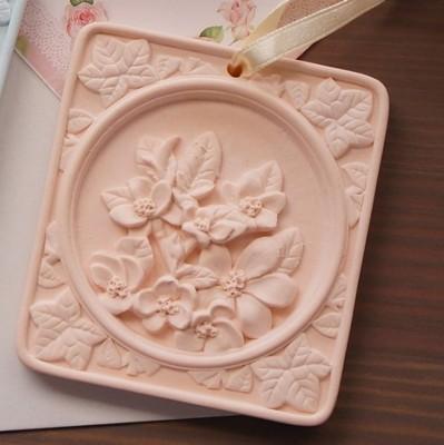 香氛石 白茶 橙花 花園紋飾 精緻香氛石3種香味3種花樣 居家裝飾小芬芳 (2折)