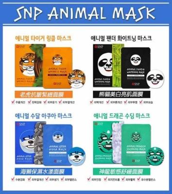 韓國SNP動物面膜 老虎/海獺/熊貓/神龍 單片搶先上市 (3.6折)