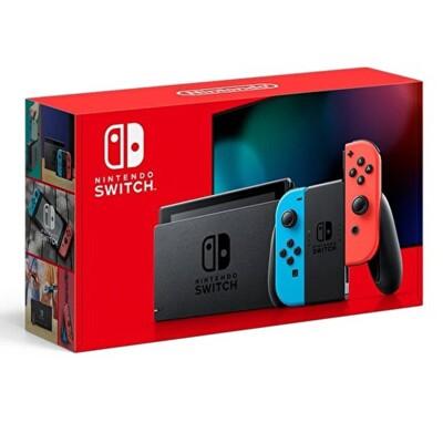 【神腦生活】現貨Nintendo Switch 主機 電光紅藍 (電池加強版) (9.5折)