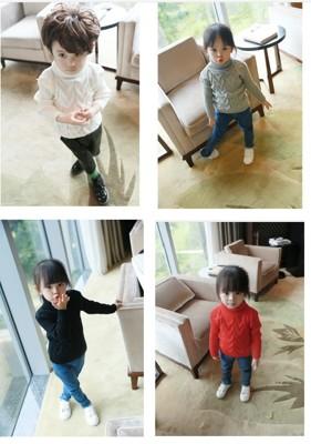 兒童高領麻花針織衣 (3.8折)