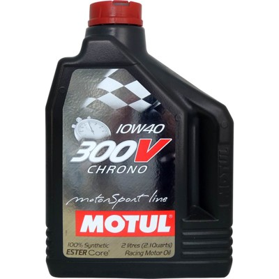 魔特 MOTUL 300V CHRONO 10W-40 雙酯全合成計時競技級機油(2L裝) (9.3折)