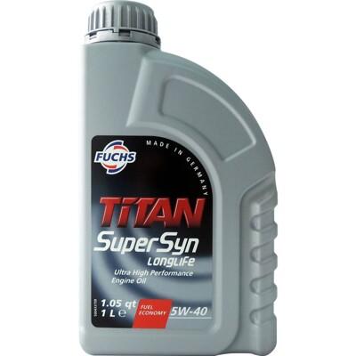 福斯 fuchs titan supersyn longlife 5w40 全合成長效機油 (7折)
