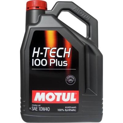 魔特 MOTUL H-TECH 100 PLUS 10W40 全合成長效汽油引擎機油(4公升裝) (9.3折)