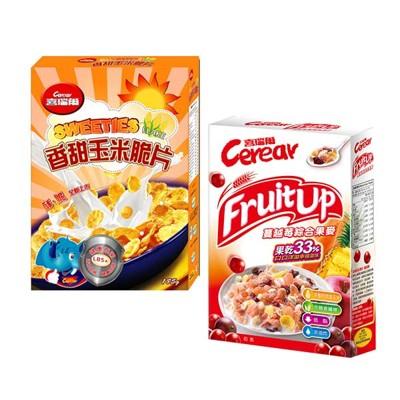 【喜瑞爾】香甜玉米脆片185g+蔓越莓果麥320g (7折)