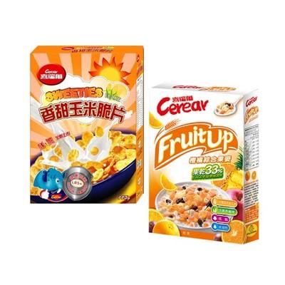 【喜瑞爾】香甜玉米脆片185g+橙橘果麥320g (7折)