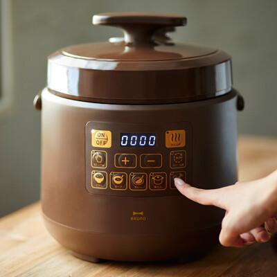 日本bruno多功能壓力電子鍋(咖啡色) 公司貨 (6.6折)