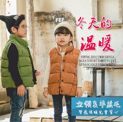 兒童羊羔絨保暖羽絨棉背心(5色任選) (5折)
