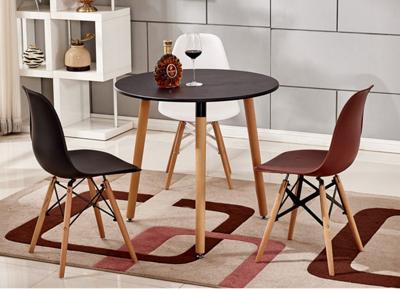 餐桌 桌子 伊姆斯桌 80CM三角圓桌 洽談桌 飯桌 木桌 圓桌 歐式 北歐小戶型奶茶店吃飯桌子 (6.6折)