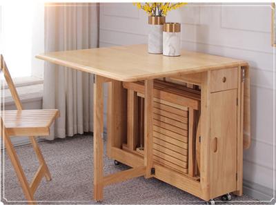 桌子 餐桌 折疊桌 1.3米 飯桌 實木餐桌 收納可折疊餐桌 小戶型伸縮餐桌 折疊桌 家用 收納桌 (6.9折)