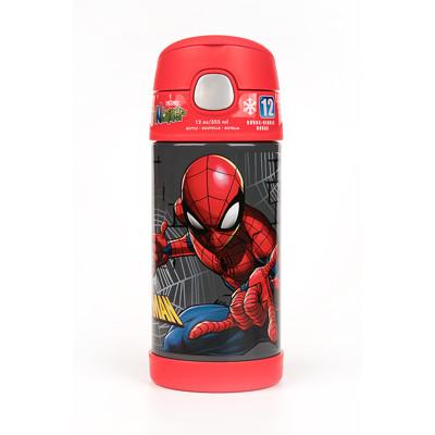 【美國膳魔師THERMOS】蜘蛛人 迪士尼不鏽鋼吸管水壺355ML (7.7折)