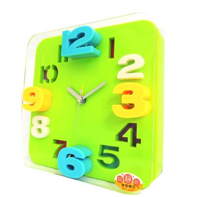 無敵王 糖果色立體數字方形鬧鐘 顏色隨機 SV-1317 (6.4折)