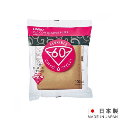 HARIO 日本製造 咖啡濾紙1-4杯用 VCF-02-100M-100入 (5折)