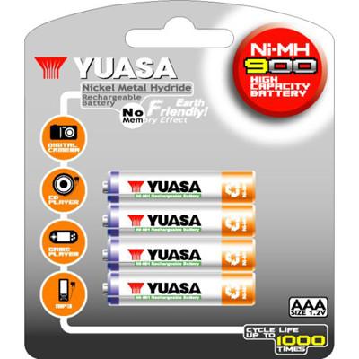 日本湯淺YUASA 鎳氫電池 4號 AAA900*4 (6.1折)