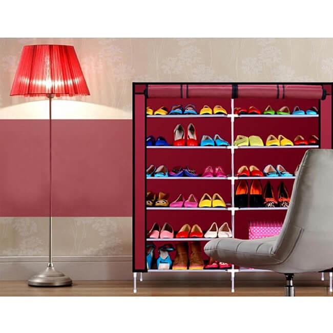 雙排11格大容量防塵鞋櫃 fj-841