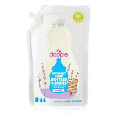 美國Dapple奶瓶及餐具清潔液-薰衣草1L(補充包) (6.7折)