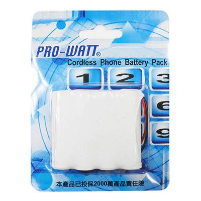 PRO-WATT 萬用接頭 無線電話電池4.8V 600mah (尺寸:AA*4) P110 (6折)