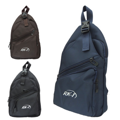 RK-1 運動風素色輕巧單肩斜背包胸包 V-103 (共三色 咖啡色/黑色/藍色) (3.9折)