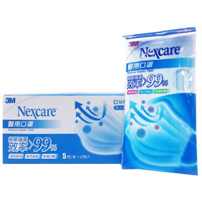 3M 雙鋼印 醫用口罩(藍色/粉紅 50入/盒) (8.4折)