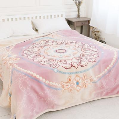 【米夢家居】鳴球100%澳洲美麗諾雙層純羊毛毯(200*230CM)粉嫩花語(4公斤) (6.1折)