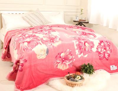 【米夢家居】鳴球100%澳洲美麗諾拉舍爾-純羊毛毯(200*230CM)-粉頰扶桑 (4.9折)