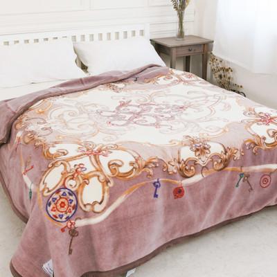 【米夢家居】鳴球100%澳洲美麗諾雙層純羊毛毯(200*230CM)紫芋情緣(4公斤) (6.1折)