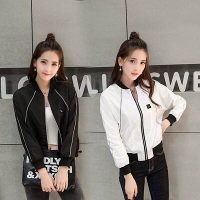 【專櫃品質 Kitty 大美人】獨家 黑白兩色 帥氣運動夾克 飛行外套(#Z5) (1.9折)