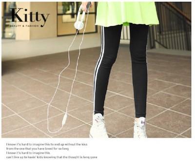【專櫃品質 Kitty 大美人】中大尺碼 超彈力 顯瘦 運動褲 休閒長褲 (1.9折)