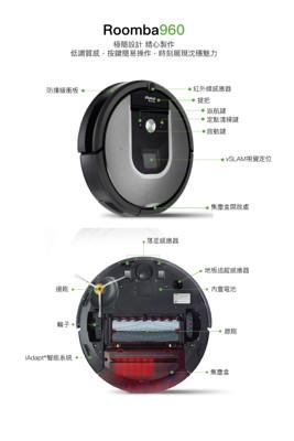 【Terzomen 特沃國際】iRobot Roomba 960雙顆虛擬牆版機器人掃地機 (9.8折)