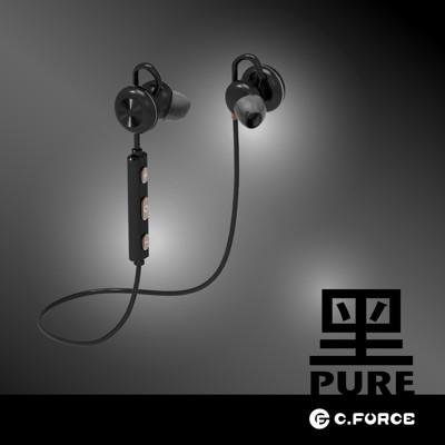 【C.Force】BTH-200運動型磁吸式藍芽耳機-黑 (4.9折)