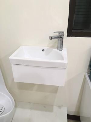 面盆+半支撐修飾櫃 寬46cm 深26cm 浴櫃PVC發泡板鋼烤防水 (4.8折)