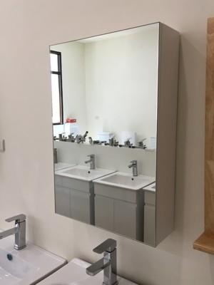 鏡櫃 鏡箱 鏡子 單門 浴室 寬48x高70x深15cm 收納浴室不雜亂 PVC防水發泡板 緩降靜音 (7.1折)