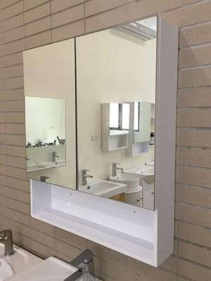 鏡櫃 鏡箱 鏡子 雙門對開 浴室 櫥櫃 收納櫃 寬70x高80x深15cm 好收納浴室不雜亂 非除霧 (7折)