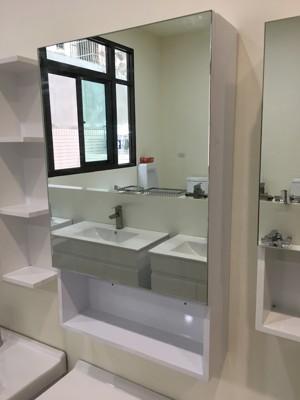 鏡櫃 鏡箱 鏡子 單門 浴室 寬48x高80x深15cm 好收納浴室不雜亂 非除霧鏡片! (7.3折)