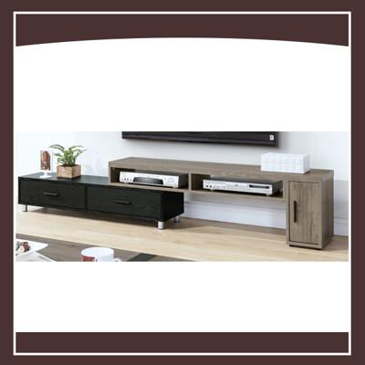 肯特古橡色4.6尺伸縮電視櫃 21195310001 (9.2折)