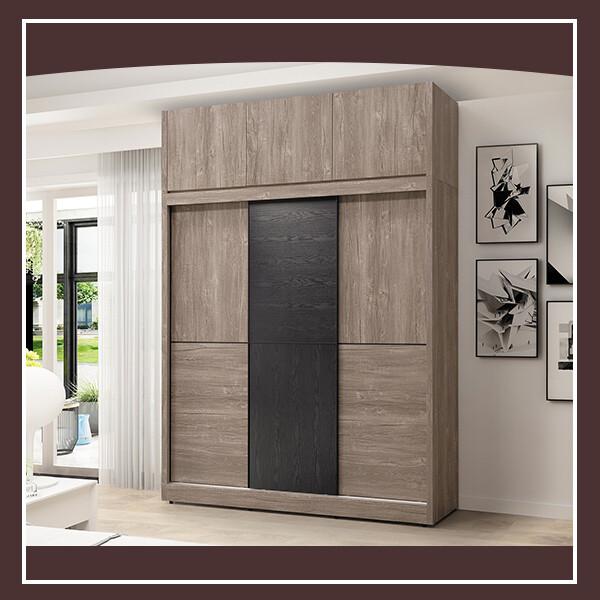 波爾多6尺高衣櫥(含上櫃) 21195022003