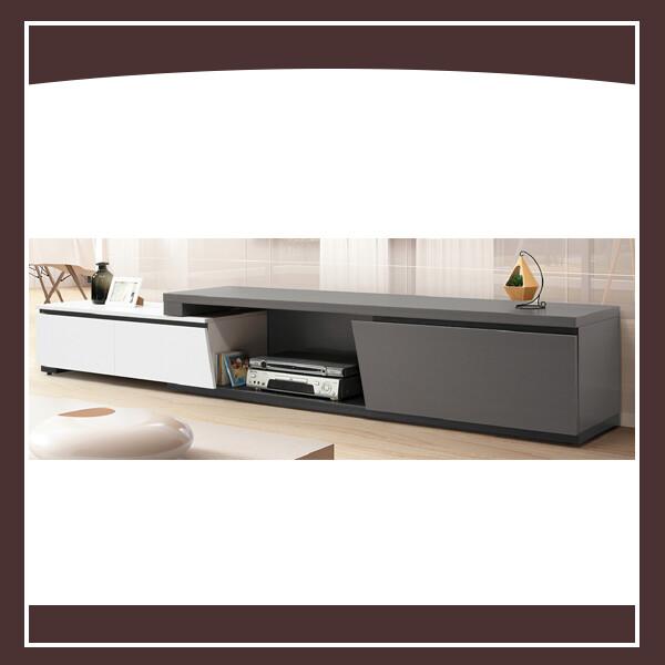 傑斯6尺伸縮電視櫃(灰/白) 21195303002