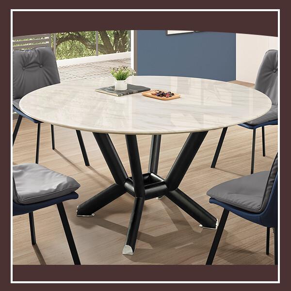 麥爾斯4.3尺石面圓餐桌 21195401001