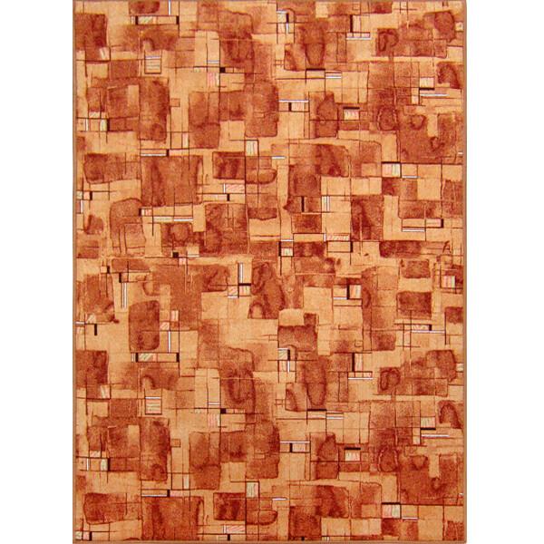 范登伯格 星雲 時尚尼龍地毯-橘色-100x150cm
