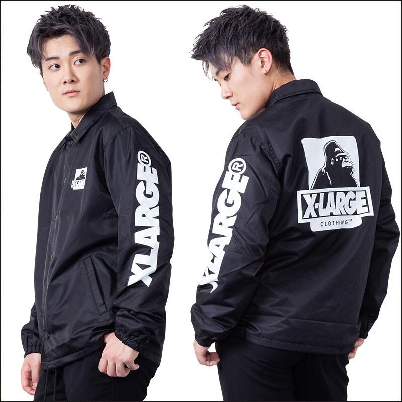 xlarge 教練外套/風衣外套/黑色棒球外套/防風外套/防風夾克 01191502