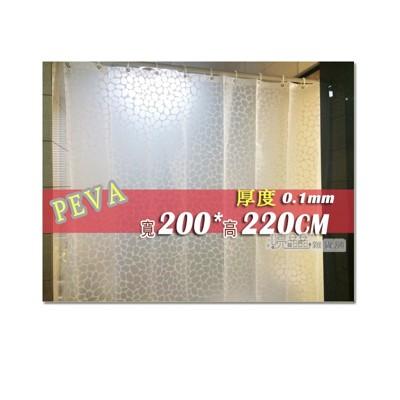 防水浴簾 白色豹紋 寬200x高220 200*220 PEVA附掛勾 可當門簾 隔間簾 窗簾 (5.2折)