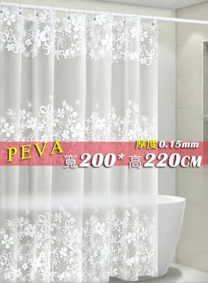 PEVA 防水浴簾 寬180*高220公分、200*220、220*200 隔間簾防止冷氣外洩門簾隔 (6折)