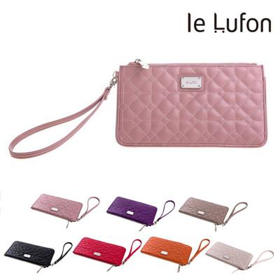 le Lufon 經典格紋皮革手拿包/零錢包/長夾/手機包 (3.1折)