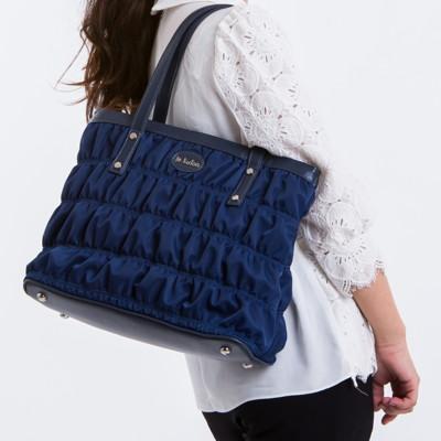 le Lufon 托特包尼龍夾綿繡紋拼接皮革大容量實用肩背包(L) 側肩背包/手提包 (3.4折)
