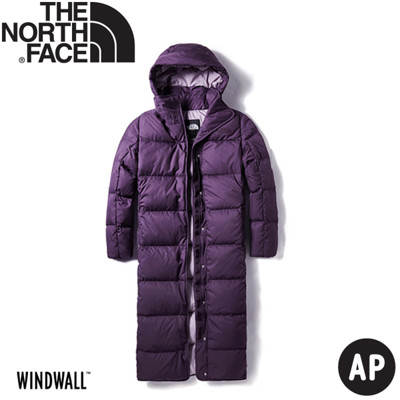 The North Face 女 長版防風保暖羽絨外套《深紫》3VUW/羽絨外套/保暖外套 (8.5折)
