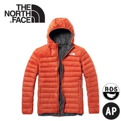 The North Face 男 700FP雙面羽絨外套《橘紅/深灰》3KTE/羽絨衣/保暖外套 (8.5折)
