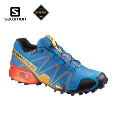 SALOMON 索羅門 男款Speedcross 3 GORE-TEX 野跑鞋〈藍/蕃茄紅〉越野/防 (7.5折)