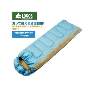 LOGOS 日本 LOGOS (0度) 加大抗菌防臭丸洗睡袋 藍化纖睡袋/睡袋/登山/露營睡袋/保暖 (8.4折)